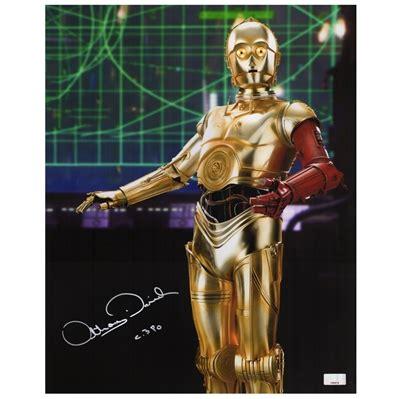 anthony daniels autograph value lot detail anthony daniels autographed star wars the