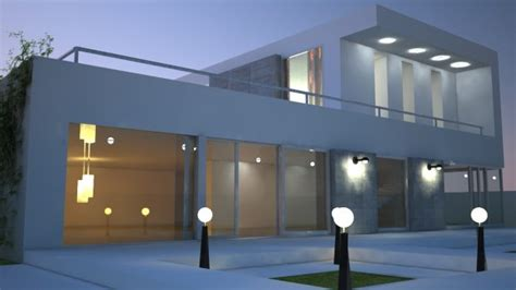 home 3d modeling house modern 3d model c4d