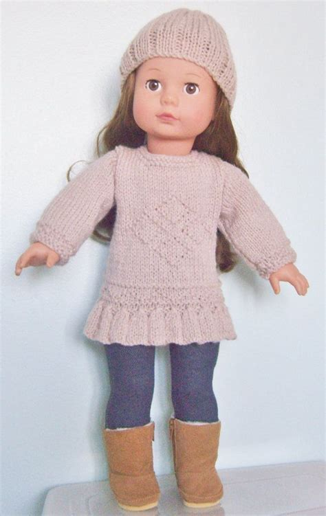 fashion forward knit hat free pattern from red heart yarns 19 best american girl knitted outfits images on pinterest