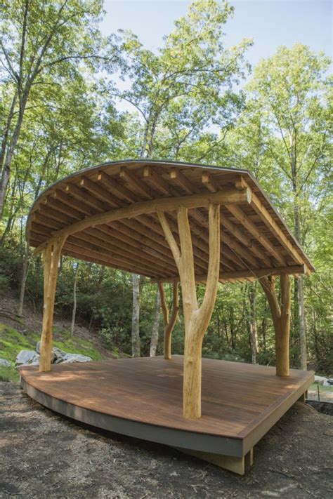 forked trees hold   fanned  roof