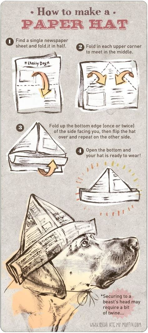 How To Make Paper Hat - how to make a paper hat diy