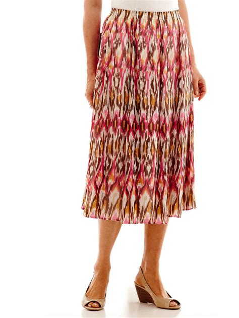 alfred dunner indian summer ikat print biadere skirt