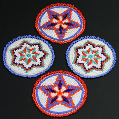 indian bead american indian beaded matching rosettes sold