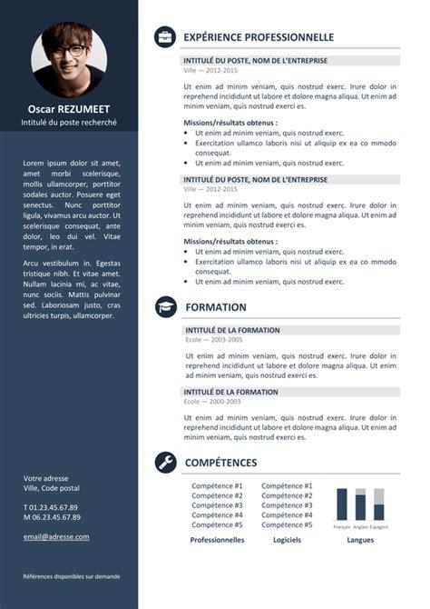 Exemple Des Cv Professionnel by Orienta Mod 232 Le De Cv Professionnel Rezumeet