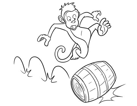 cartoon monkey coloring page free printable monkey coloring pages for kids
