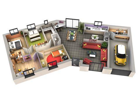 Plan Maison Avec Patio Intérieur by Interieur Maison Plain Pied Contemporaine