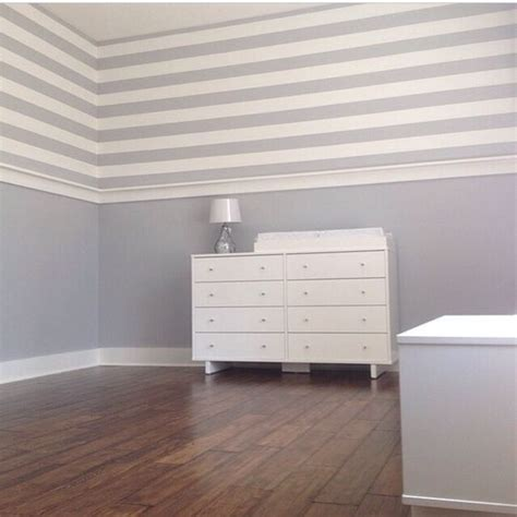 beautiful painted stripes sherwin williams lazy gray and white brightsidepaint all