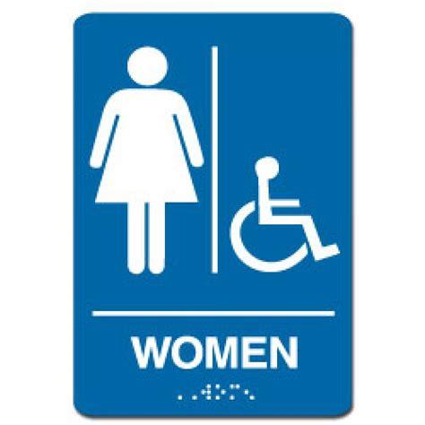 Handicap Bathroom Signs by Handicap Restroom Sign