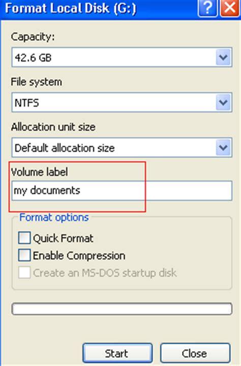 format hard drive volume label diskpart to format usb flash drive memory card hard disk