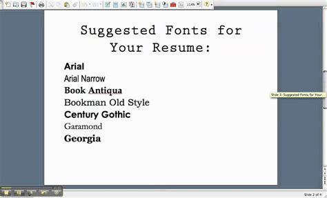 writing a resume fonts you can use on your resume