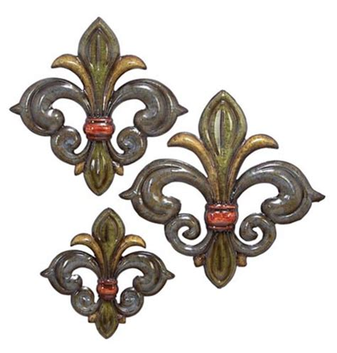 fleur de lis wall decor wholesale set of 3 fleur de lis wall decor globe imports
