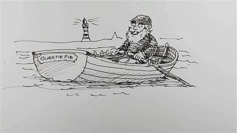 how to draw a rowboat curious - How To Draw A Rowboat