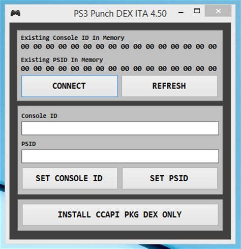 reset parameter video ps3 working update ps3 punch cid psid changer dex ita 4 50
