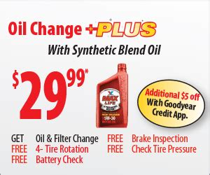 tire  oil change  coupon