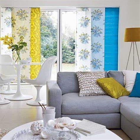 cool curtains for living room living in modern fashion blue yellow