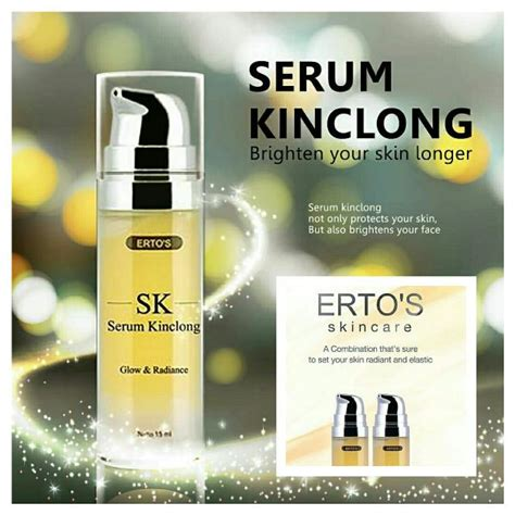 Serum Ertos Treatment ertos serum kinclong anti aging pencerah wajah bpom elevenia