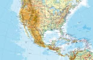 united states and central america map maps united states and central america physical map