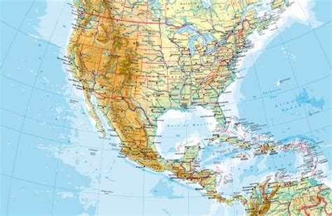 map usa and central america maps united states and central america physical map