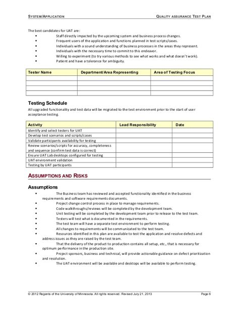 templates for exam website 06 template test plan