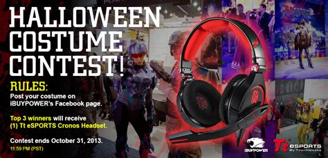 Blog Giveaway Rules - official rules for halloween costume contest giveaway ibuypower gaming news