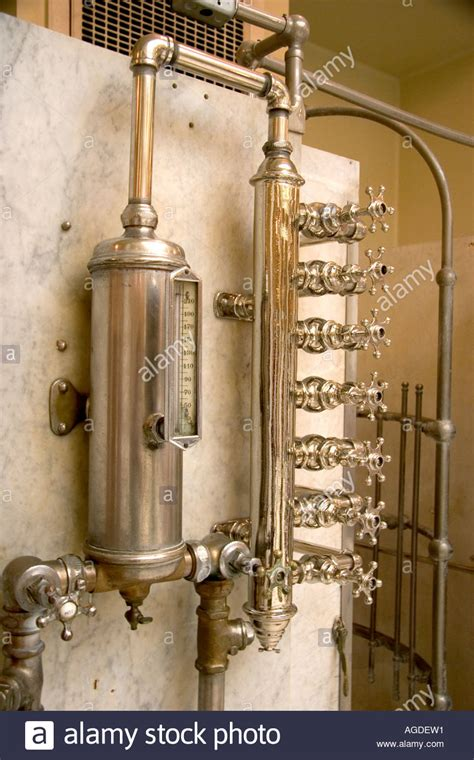 hot house interiors fordyce historic bath house interior showing water valves in hot stock photo royalty
