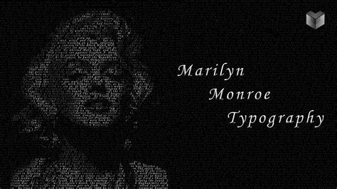 typography tutorial photoshop 7 0 marilyn monroe photoshop typography tutorial youtube