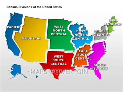 map us census regions u s powerpoint maps standard kit maps4powerpoint