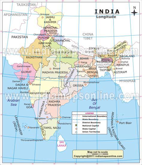 latitude map india map latitude and longitude