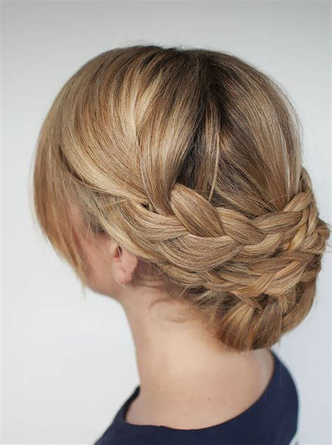 hairstyles braids easy updo hairstyles for short hair with braid