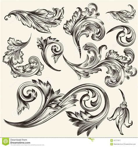 flourish tattoo designs 13 vector vintage flourish images free vector flourish