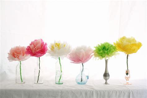 Tissue Paper Flower - rust tissue paper flowers