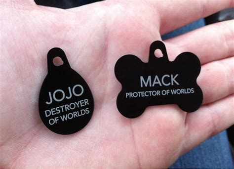 silly tags 19 collar tags for pets who like to roam the neighborhood
