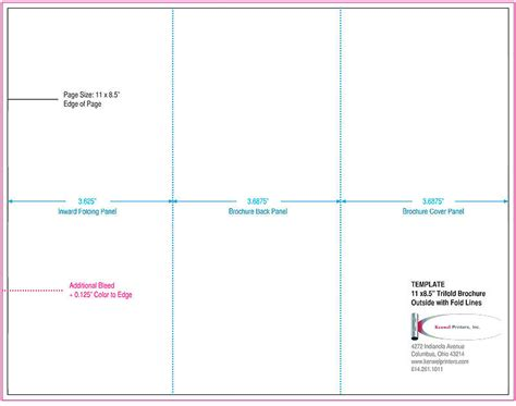 Trifold Brochures Kenwel Printers Inc 3 Panel Brochure Template Illustrator