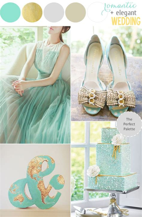 Ruby Wedding Inspiration Mint Green Teal And Gold Wedding | mint meets glittery gold creative color ideas creative