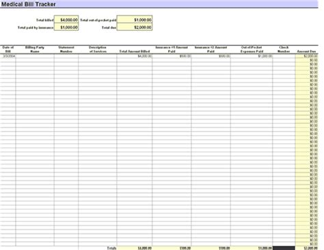 patient tracking template patient s bill tracker office templates
