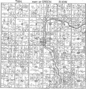 Michigan Plat Maps by 1918 Green Township Mecosta County Michigan Plat Map