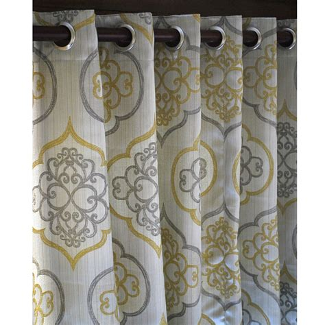gray and gold curtains geometric light gold damask curtain panels 52x84