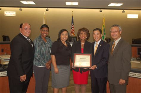 Gardena Ca City Ordinances Congresswoman Waters Honored By Gardena City Council Los