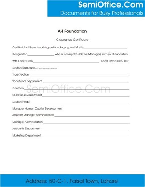 Loan Clearance Letter From Employer To Employee Employee Clearance Form For Resigning And Termination