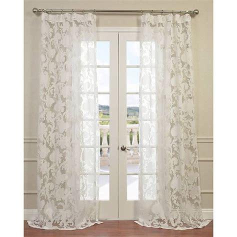 overstock sheer curtains venus white designer sheer curtain panel overstock