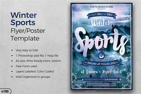 sports flyer template winter sports flyer template by thatsdesign graphicriver