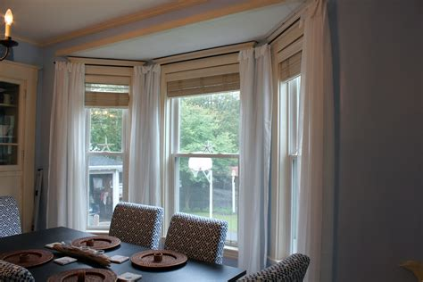 bay window drapery our cottage on the coast make your own bay window treatment