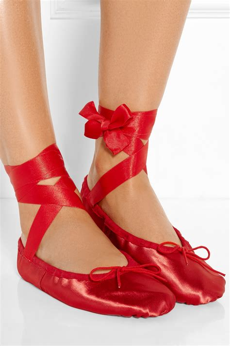beautiful slippers ballet beautiful satin ballet slippers in lyst