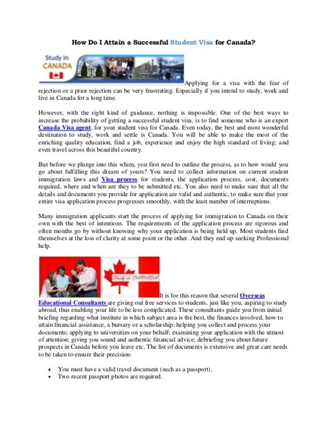 Explanation Letter For Tourist Visa How Do I Attain A Successful Student Visa For Canada