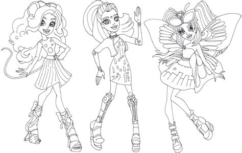 Coloring Pages Gala Ghoulfriends Boo York Monster High Page sketch template