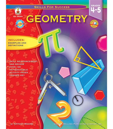 tutor in a book s geometry books geometry resource book grade 4 5 carson dellosa publishing