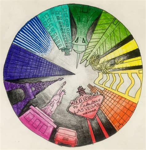objective create a one point perspective drawing of your objective students will create a color wheel using one