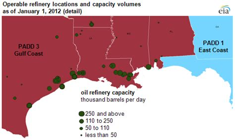 texas refineries map much of the country s refinery capacity is concentrated along the gulf coast today in energy