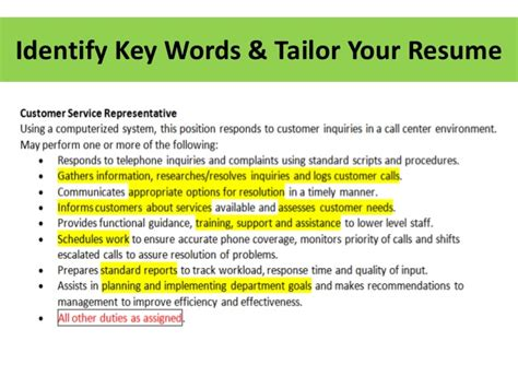 tailor your resume resume ideas