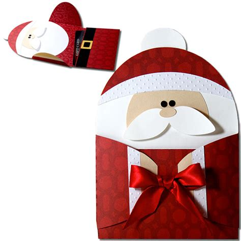 A Gift Card Santa - jmrush designs santa hug gift card holder